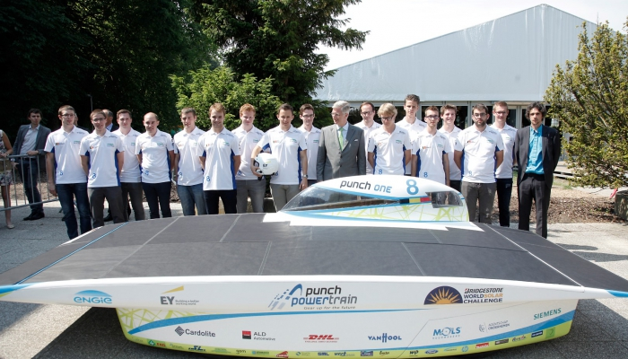 Stewal sponsort Punch Powertrain Solar Team