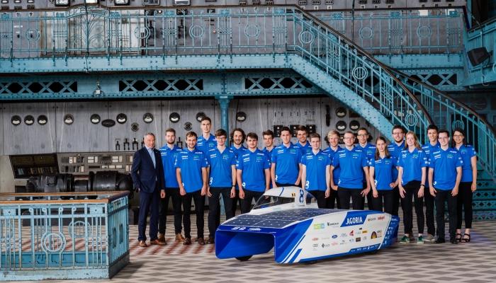 Sponsoring van het Agoria Solar Team